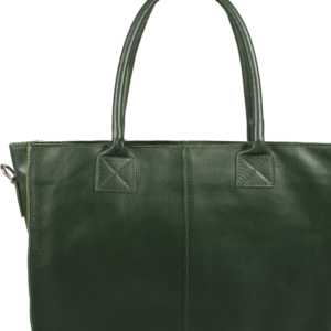 Italská kožená kabelka Fausta Verde Scura