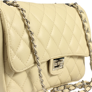 Italská kožená kabelka Eliana Argento Beige